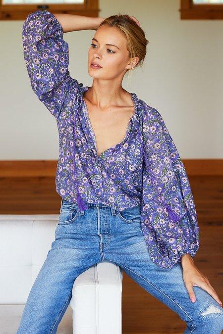 Emerson Fry Bardot Top - Iris Wildflower
