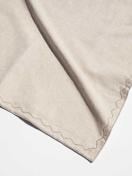 Erica Tanov hand-embroidered linen table runner - natural