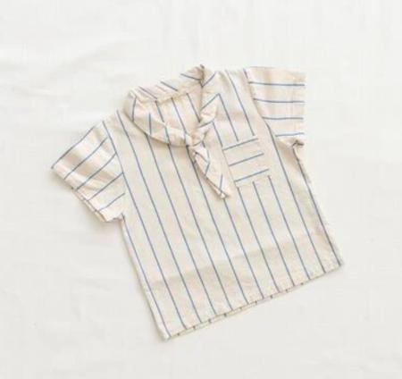 Kids Fin & Vince Sailor Shirt - Blue Stripe