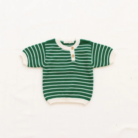 Kids Fin and Vince Zion Knit Top - Emerald