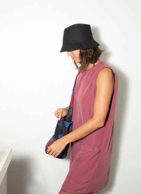 KAAREM Pupal Sleeveless Mini Dress - Plum