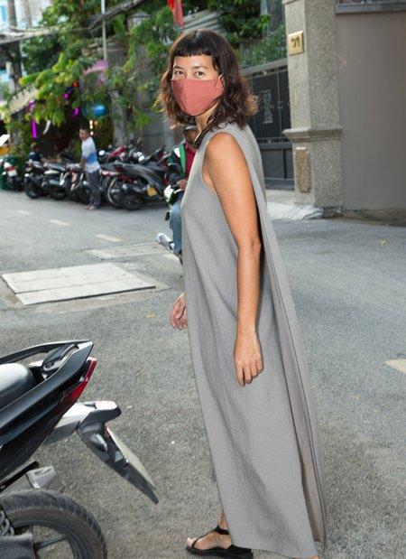 KAAREM Turn Sleeveless Overlap Maxi Dress - Sage Green