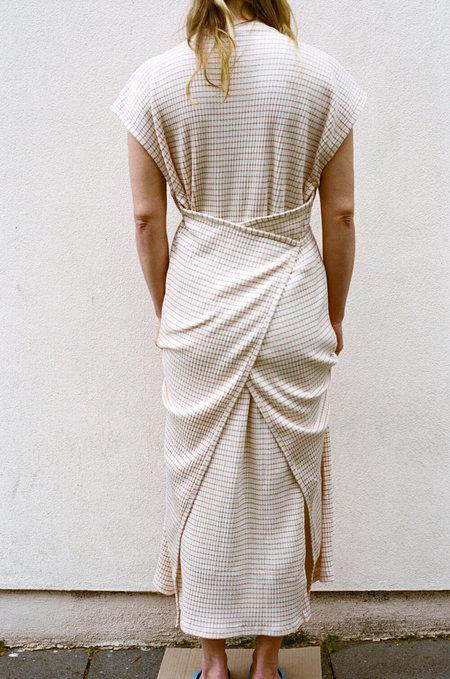 BASERANGE Shaw Kaftan Dress - Red/white stripe