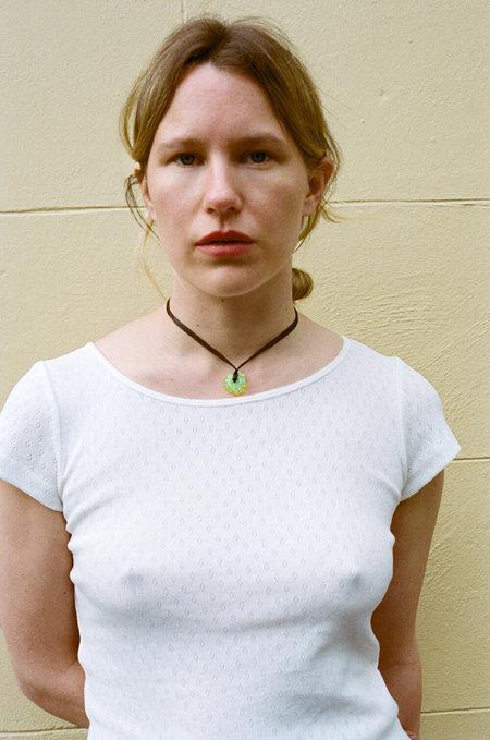 MARYAM NASSIR ZADEH Astrid Tee - White Pointelle