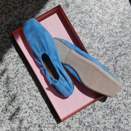 Rejina Pyo Tommi Ballerina Pump - Suede Blue