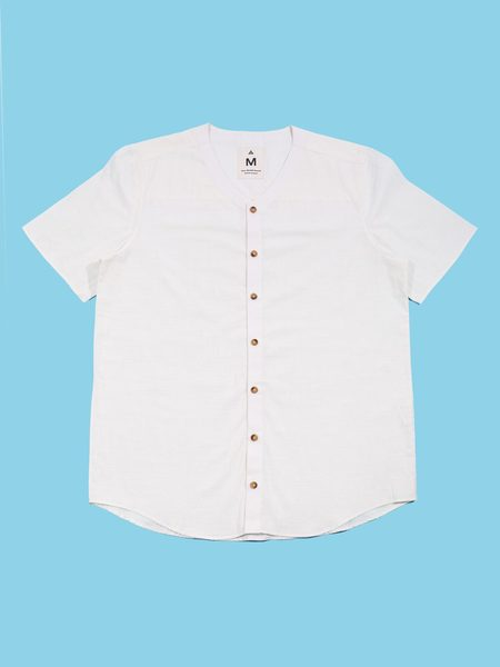 Deshal Comilla Baseball Button-Down shirt - White
