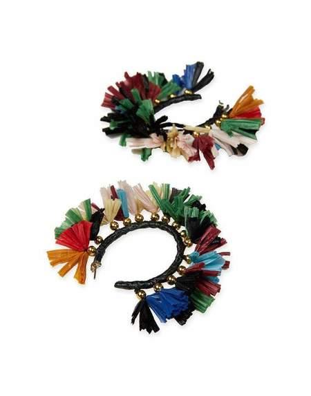 La Double J Hoop Earrings - Multi