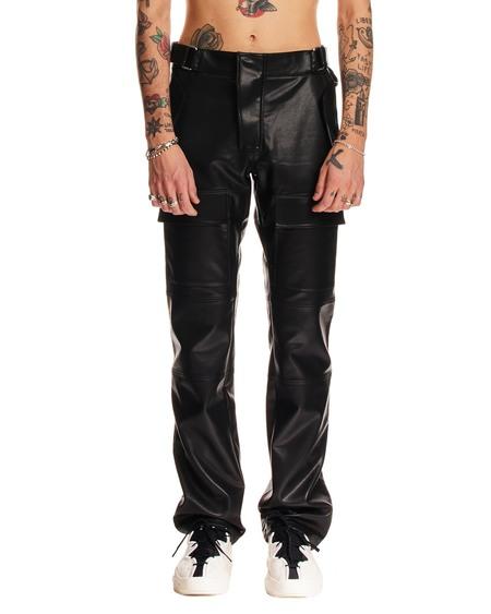 MISBHV Leather Pants - Black