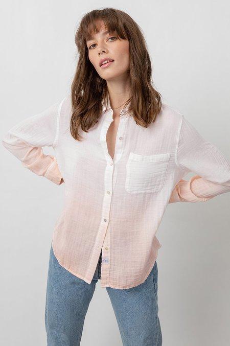 Rails Ellis Shirt - White/Blush Dip Dye