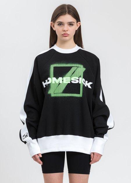 we11done Homesick Raglan Sweater - Black