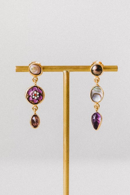 Grainne Morton Three Charm Drop Earrings