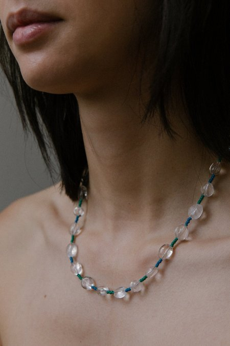 Vermeer Kensington Necklace - Clear Quartz/Japanese seed bead