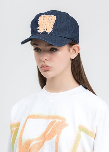 we11done Neon Patch Embroidered Cap - blue