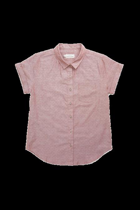 Bridge & Burn Bea shirt - Rust Dobby Dot