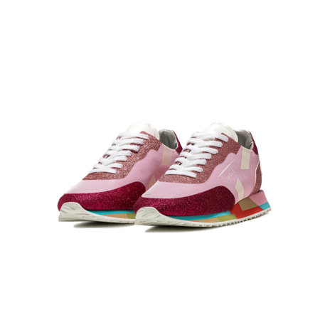 Ghoud Star Low Sneakers - Glitter Pink/Cherry