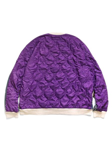Kapital Fleece Bandana Pattern BIG Sweatshirt - Purple/Navy