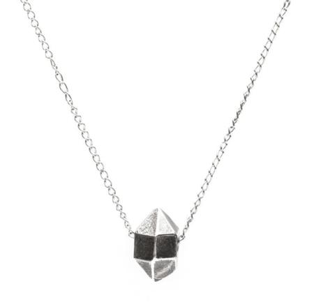Angela Monaco Cast Crystal Sliding Charm Necklace - Silver