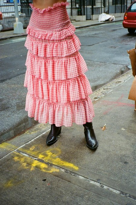 Sandy Liang Choux-Choux Skirt - Red