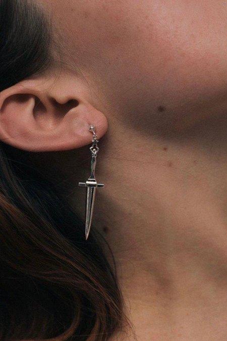 Pamela Love Dagger Earrings - sterling silver