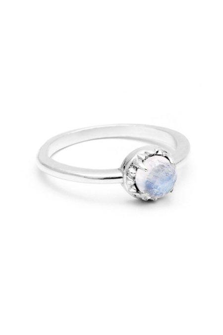 Angela Monaco Matrix Halo Ring - Silver/Moonstone