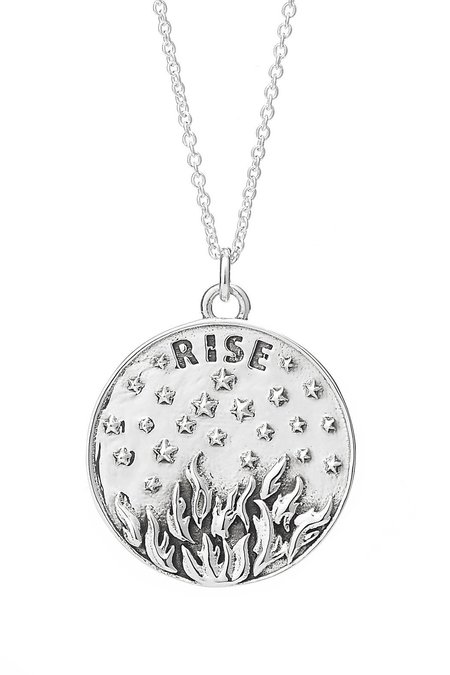 Talon Phoenix Medallion necklace - Sterling Silver