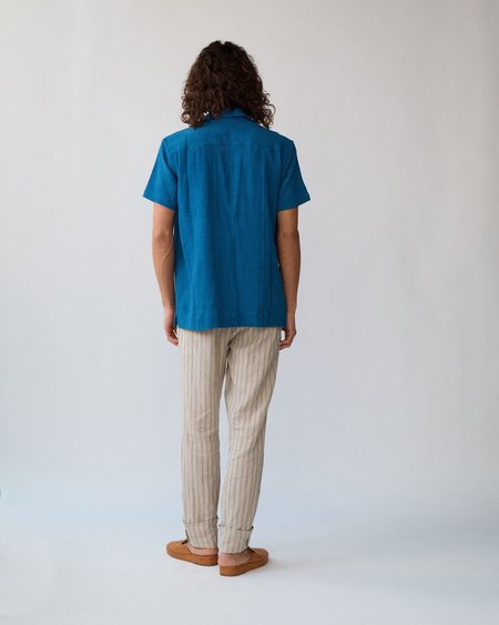 Corridor Super Slub Summer Shirt - Indigo