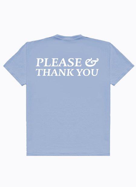 Noble Gentlemen Trading Co. Please & Thanks SS Tee - Sky Blue