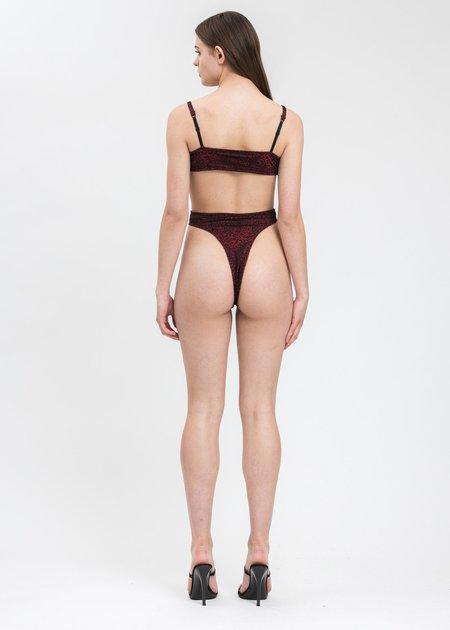 Y/project Ruched Cutout Lace Bodysuit - Black