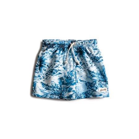 Kids Bather Hawaii Swim Trunk - Navy