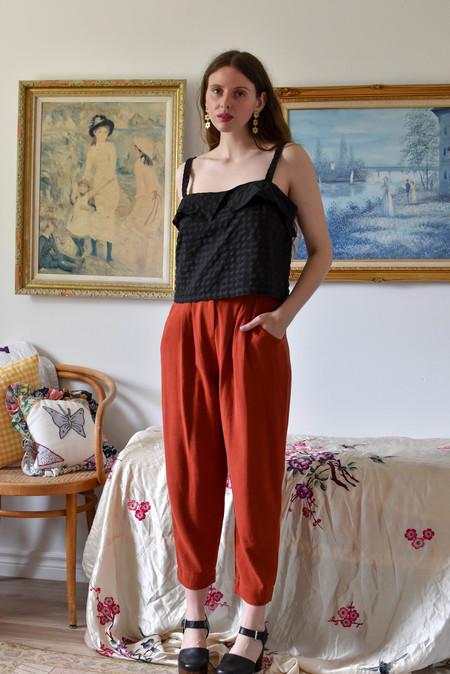 Meemoza Maelle Pants - Burnt Orange Linen