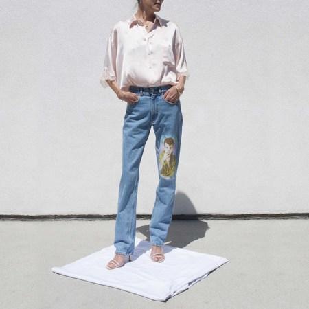 Martine Rose Straight Leg Jean - mid-wash blue