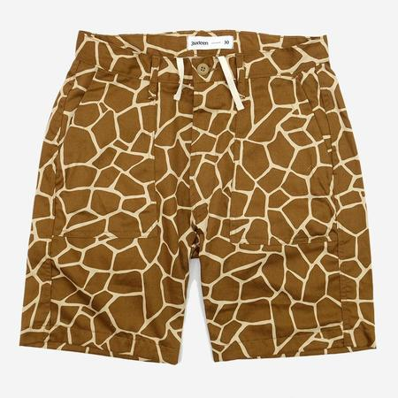 3Sixteen Drawstring Fatigue Shorts - Giraffe Camo Print