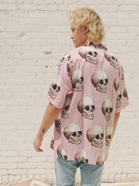 Endless Joy Skull Pink Tencel Short Sleeve Shirt
