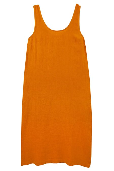 L.F.Markey Basic Linen Shift Dress - Saffron