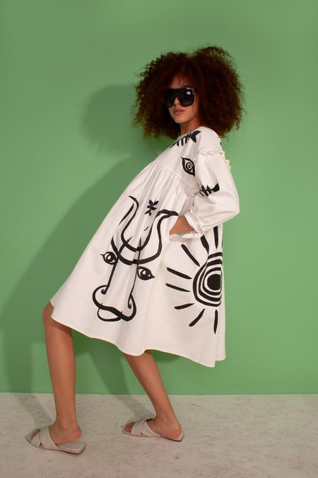 L.F.Markey Kingston Dress - Picasso Print