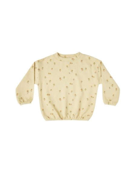kids Rylee + Cru Little Flower Slouchy Pullover - Cream