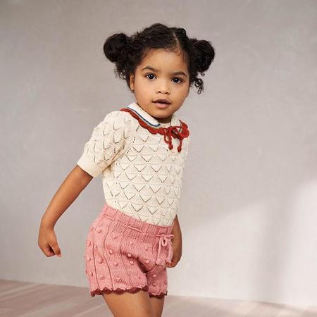 kids Misha & Puff Popcorn Rib Shorts - Rose Blush Pink