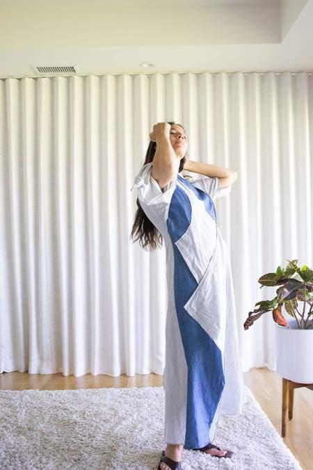 Atelier Delphine Topfer Dress - Stripe Blue