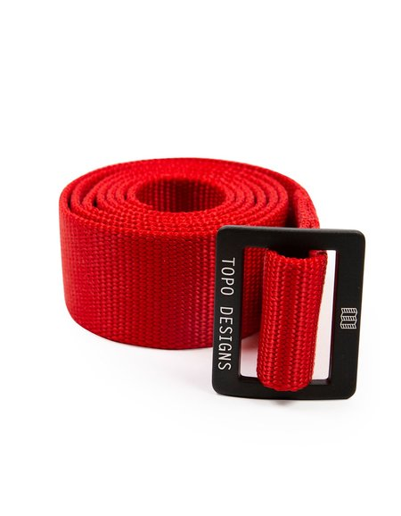 Topo Designs Web Belt - Red