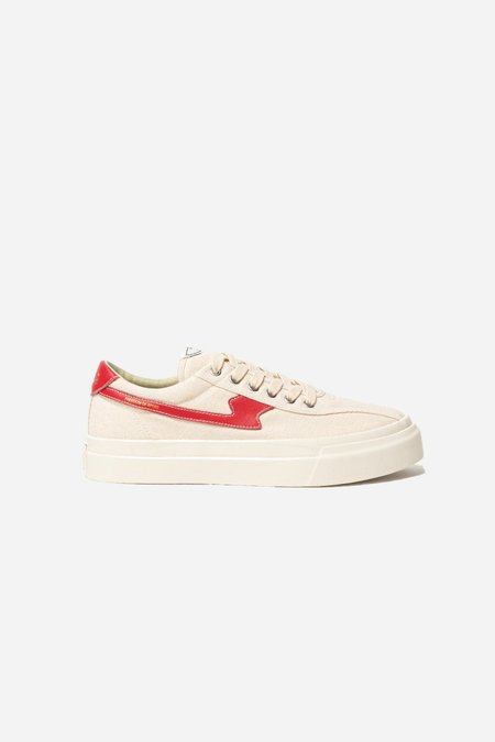 Stepney Workers Club WMNS Dellow S-Strike Canvas sneakers - Ecru/Red