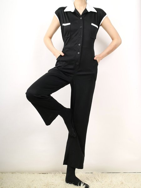 Vintage jumpsuit - black/white
