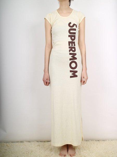 Vintage supermom dress/nightie - Cream
