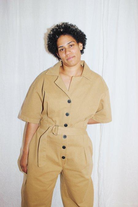 Toit Volant Oversize Belted Jumpsuit - Cream