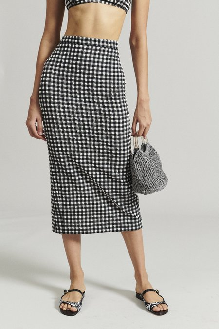 Rachel Comey Parmi Skirt - Black Stretchy Check