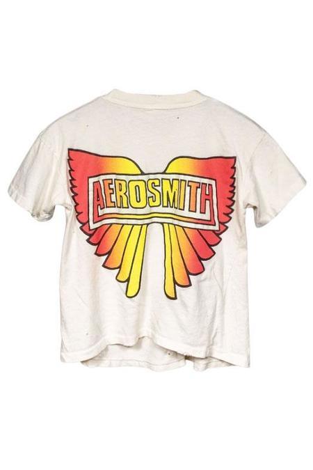 MadeWorn Aerosmith Crop Tee - Off-White
