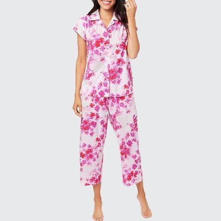 The Cat's Pajamas Luxe Pima Capri Set - Aster