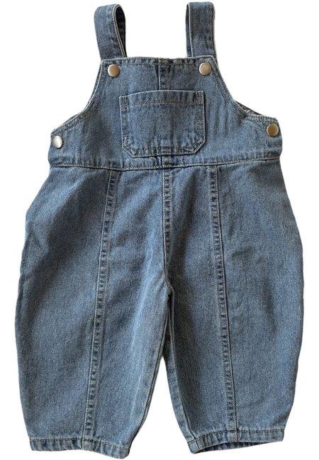 Kids Lala Denim Suspender Bodysuit