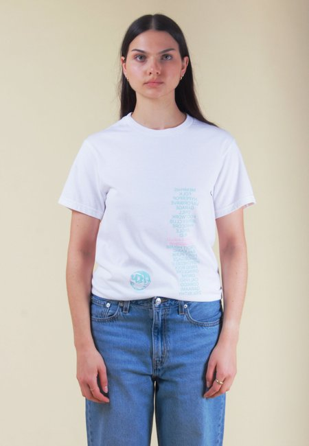 AN ATTEMPT AT LIVING Ambient Field Recordings T-Shirt - white