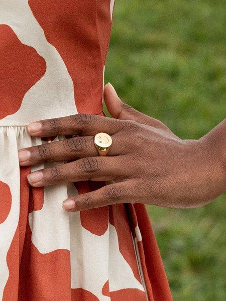 Gilbert Smiley Signet Ring