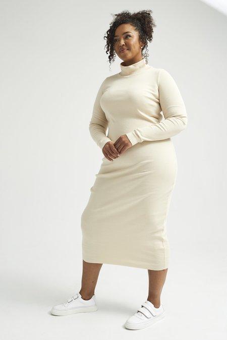 Lois Hazel Skivvy Rib Dress - Cream
